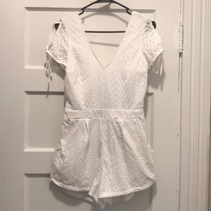 White romper (worn ONCE)